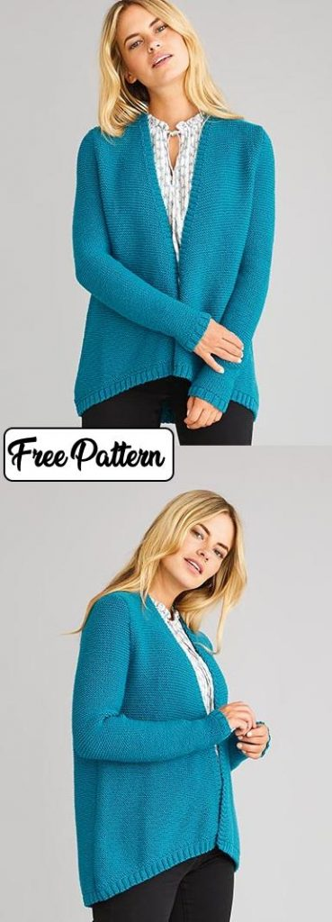 Easy Knitting Patterns for Women's Cardigans simple