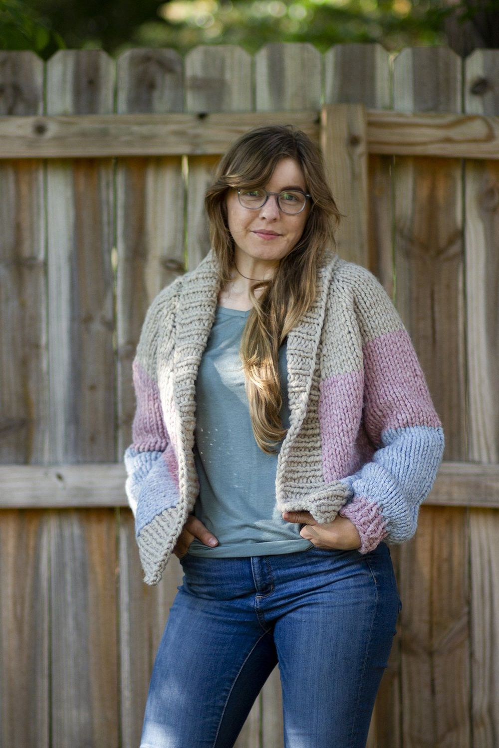 Easy-free-chunky-cardigan-knitting-pattern ⋆ Knitting Bee
