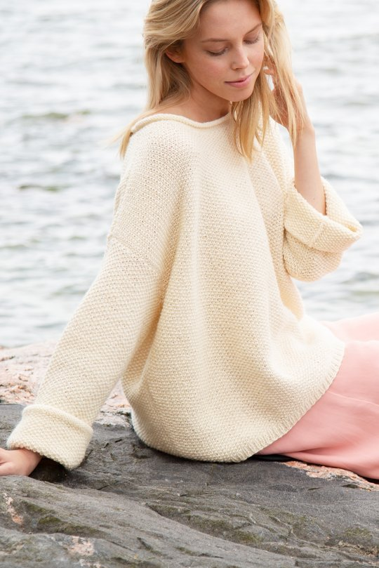 Easy knitting pattern for an oversized sweater