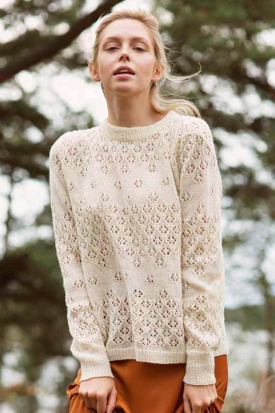 Free Knit Pattern for a Ladies Lace Sweater
