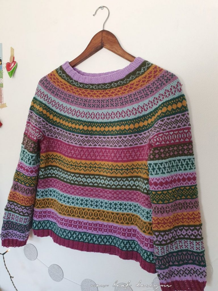 Free Knitting Pattern for a Around the World Sweater