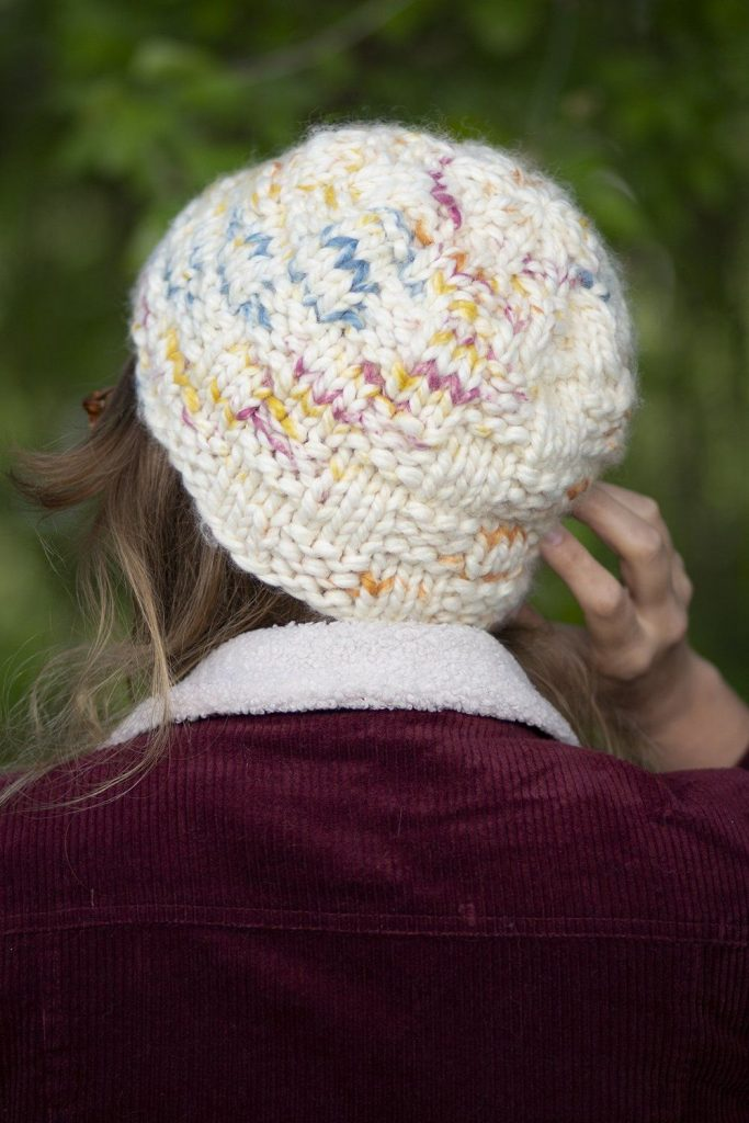 Free Knitting Pattern for a Bulky Basketweave Hat