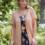 Free Knitting Pattern for a Long Cardigan with Short Sleeves