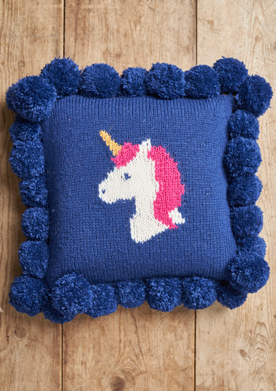 Free Knitting Pattern for a Unicorn Cushion