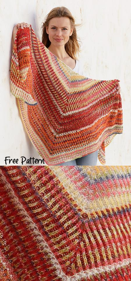 Free Triangle Shawl Knitting Patterns with Eyelets