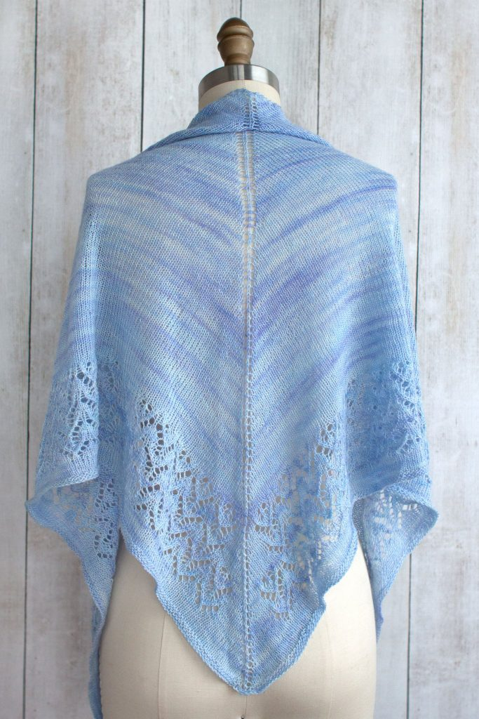 Free Triangle Shawl Knitting Patterns with a lace edge