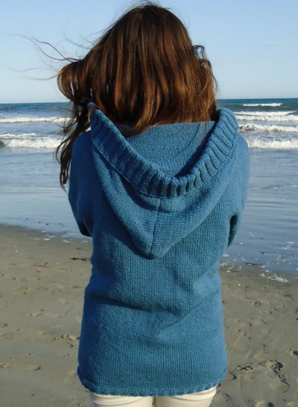 Free and easy cardigan knitting pattern with a hood