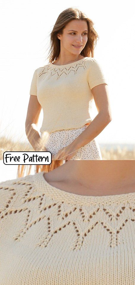 Free knit pattern for a cotton tee