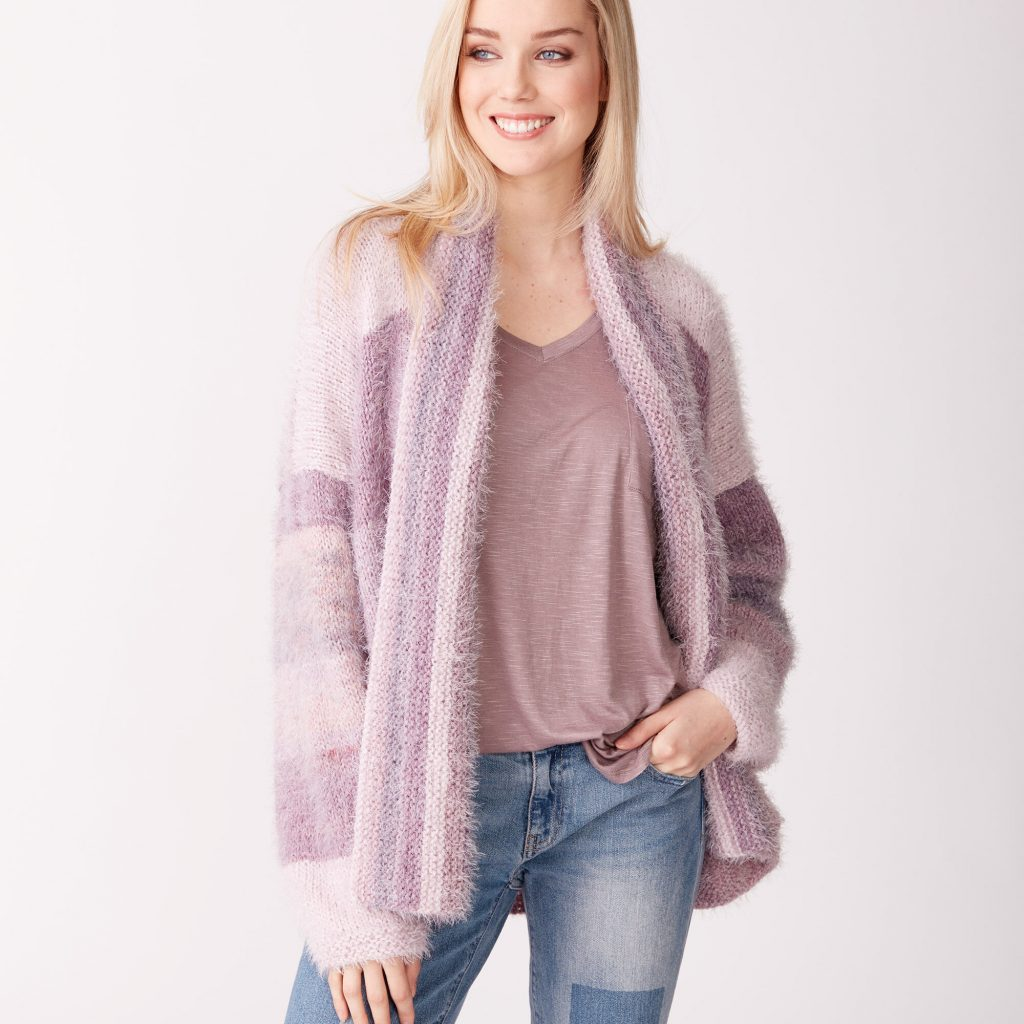 Free knit pattern for a loose fit cardigan