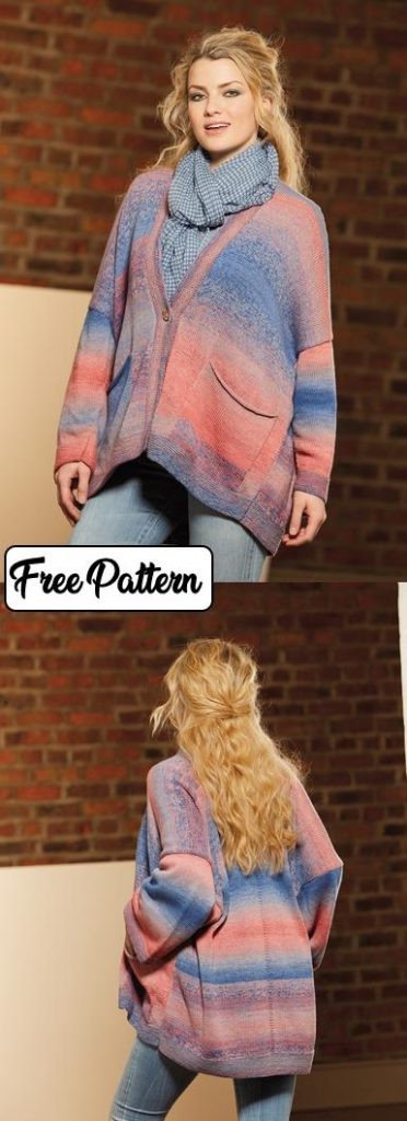 Free knit pattern for a slouchy cardigan