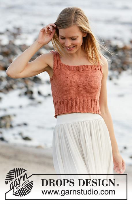 Free knit pattern for a summer crop top easy