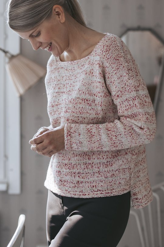 Free knitting pattern for a simple sweater