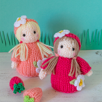 Free knitting pattern for a strawberry fairy