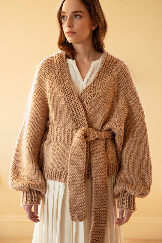 Free loose cardigan knitting pattern