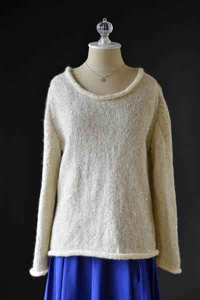 Free rolled neck sweater easy knitting pattern