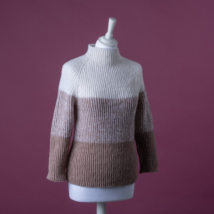 Free sweater knit pattern for a twisted rib pattern
