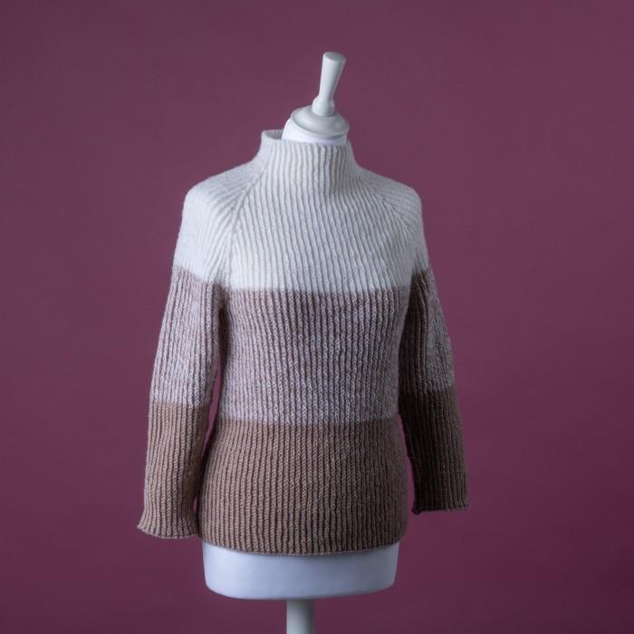 Free sweater knit pattern for a twisted rib pattern
