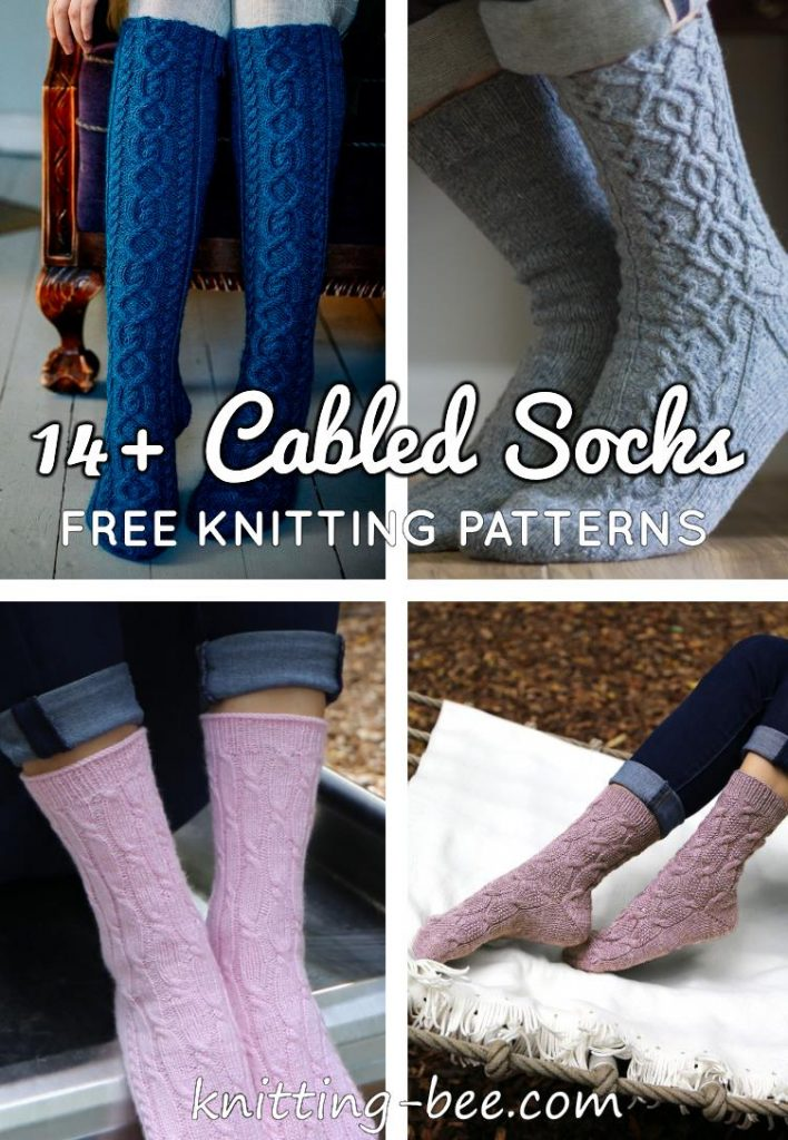 14 + Free Cable Pattern Sock Knitting Patterns