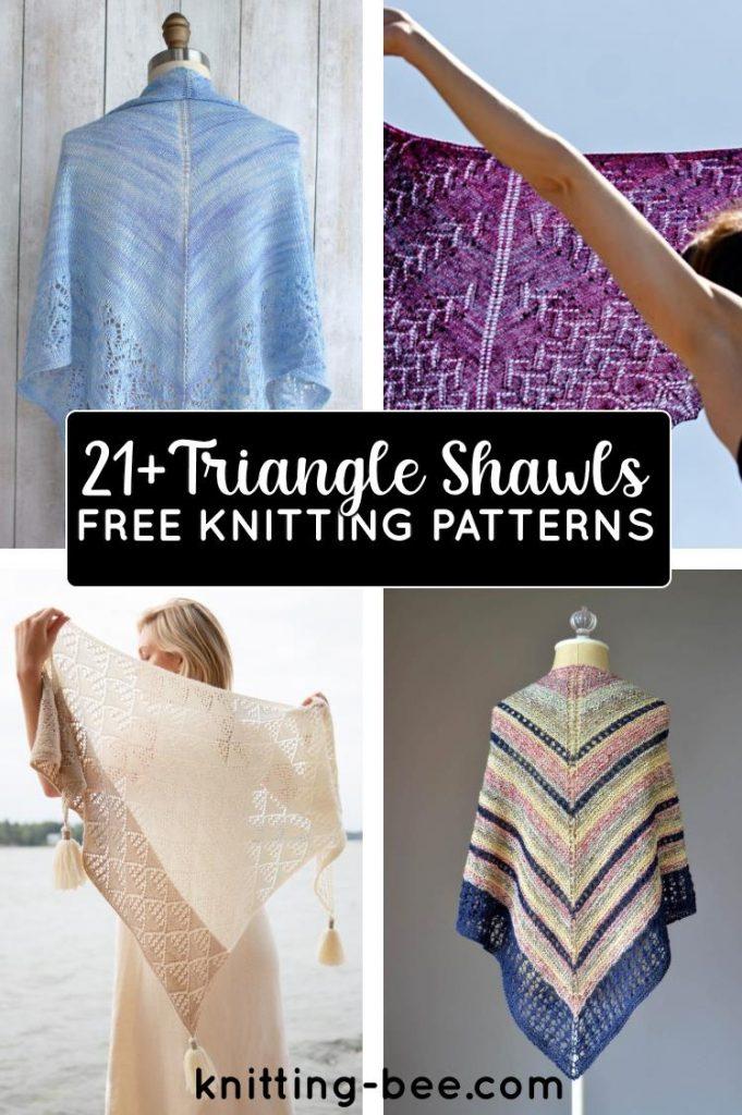 21+ Free Triangle Shawl Knitting Patterns