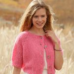 Free knitting pattern for a short sleeve cardigan 1