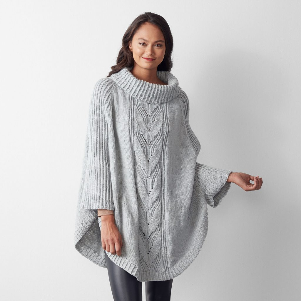 Free Knitting Pattern for a Batwing Swoncho