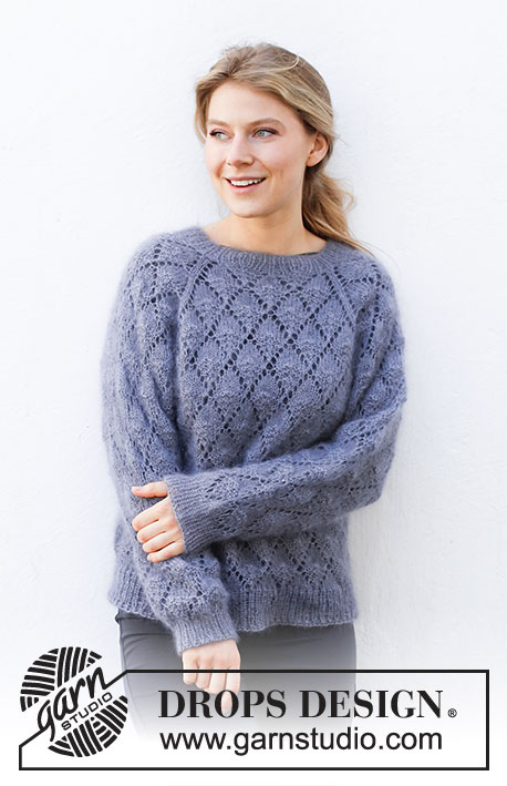 Free Knitting Pattern for a Diamonds Lace Sweater