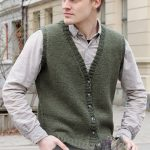 Free Knitting Pattern for a Man's Classic Vest