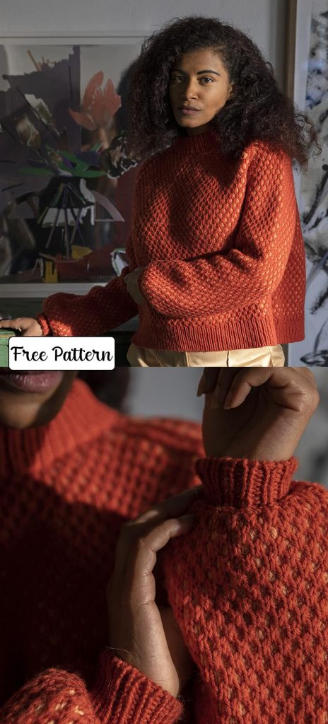 Free knit pattern for a ladies sweater