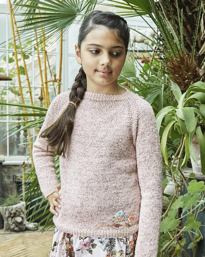 Free knitting pattern for a kids simple sweater