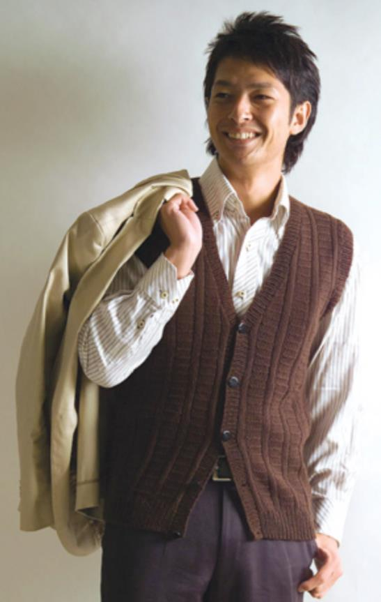 Free knitting pattern for a man's vest