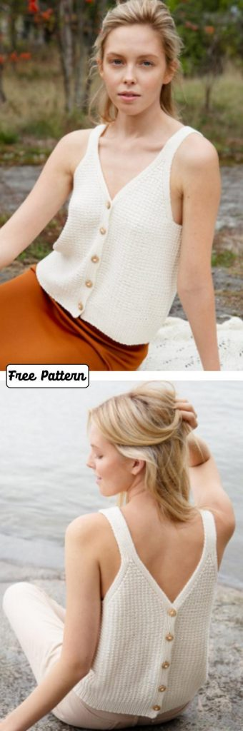 Free knitting pattern for a tank top