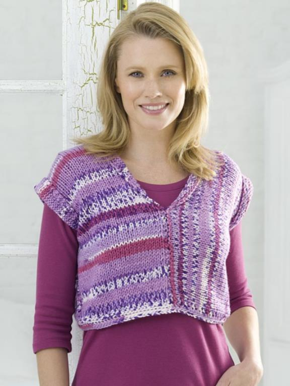 free knitting pattern for a ladies beginner vest