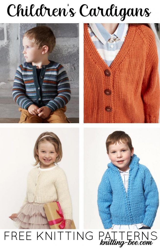12 Free Knitting Patterns for Children's Cardigans