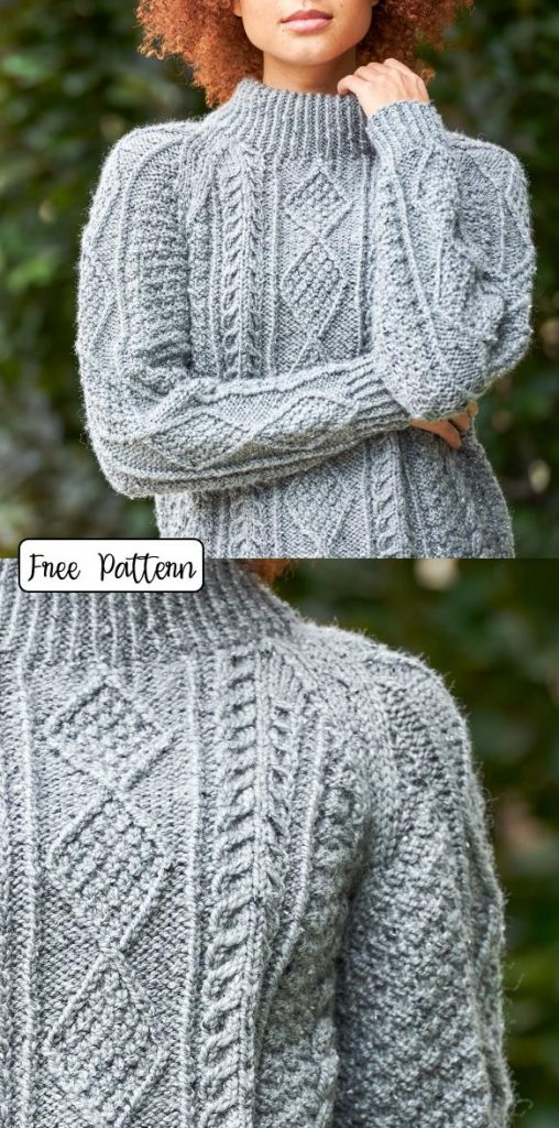 Cable Knit Pattern for Women Free