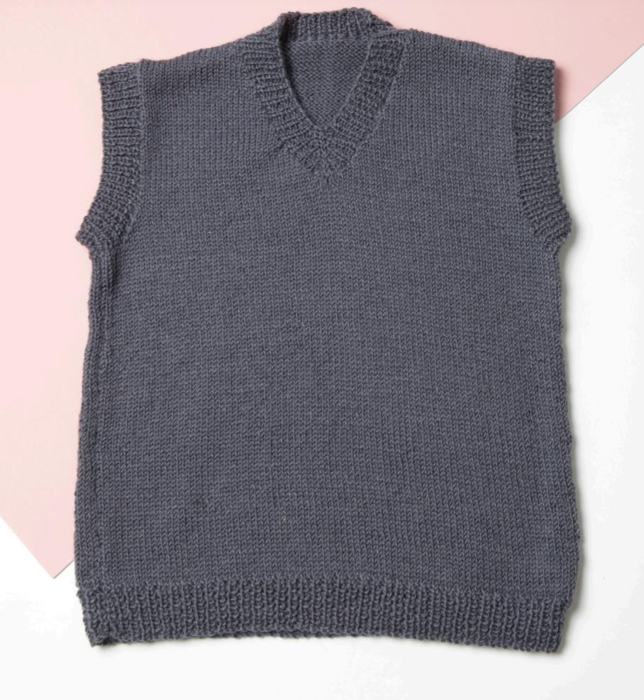 Easy kids vest free knitting pattern
