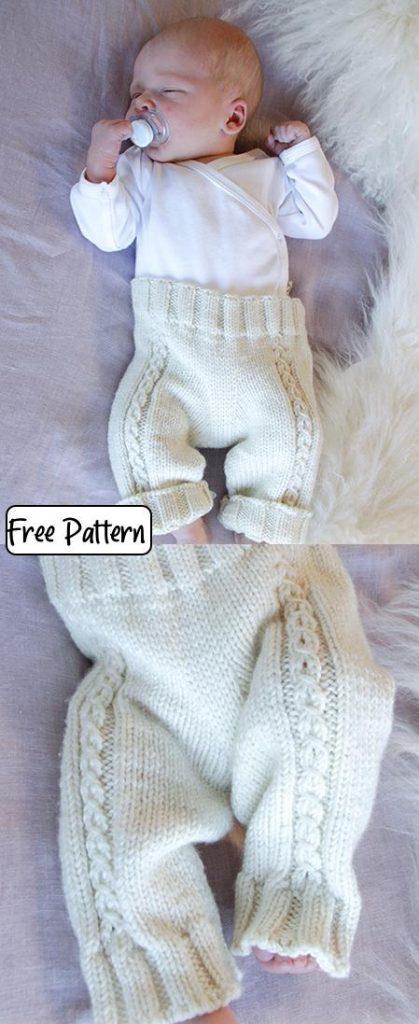 Free Baby Knitting Pattern for Little Cherub Pants