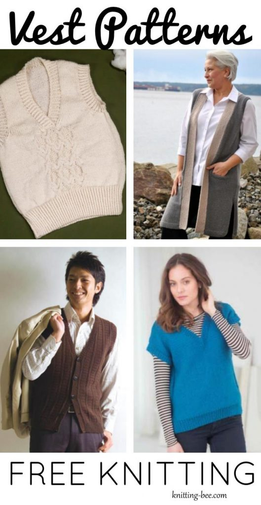 Free Knit Vest Patterns for Adults