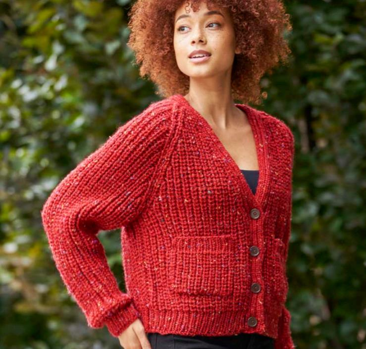 Free Knitting Pattern for Paton's Garrison Creek Cardigan