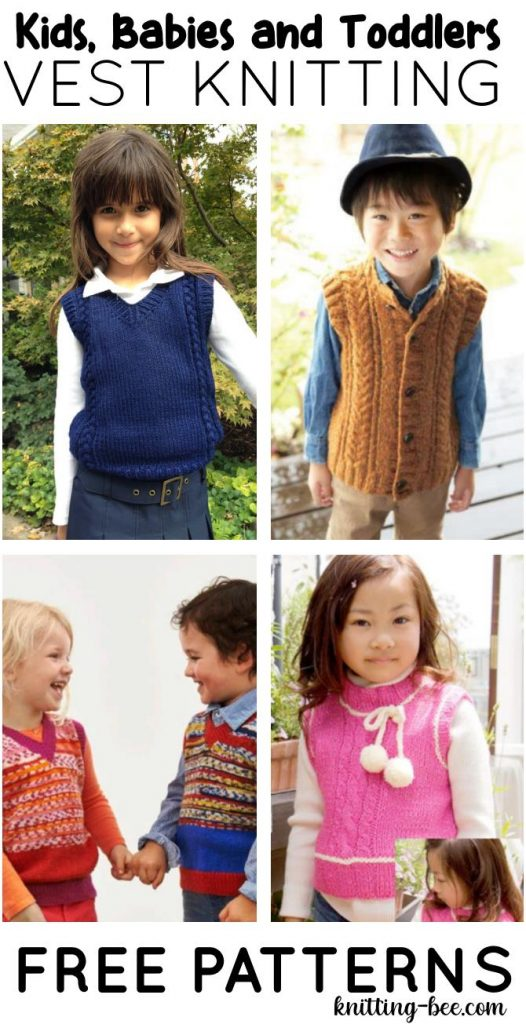 Free Vest Knitting Patterns for Babies, Toddlers and Kids
