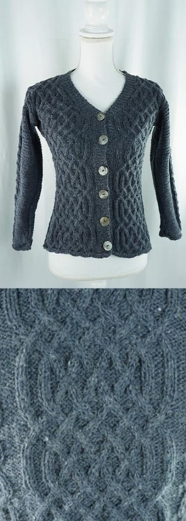 Free all over cable cardigan knitting pattern