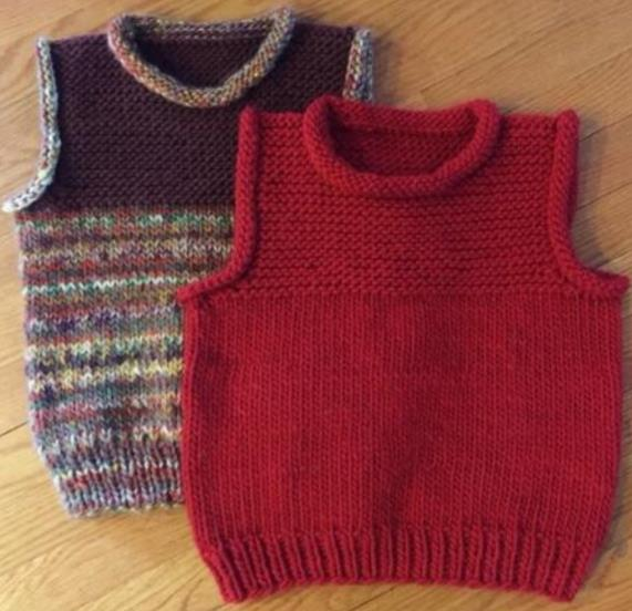 Free and easy vest knitting pattern for kids