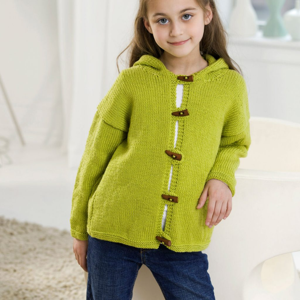 Free knit pattern for a child's jacket