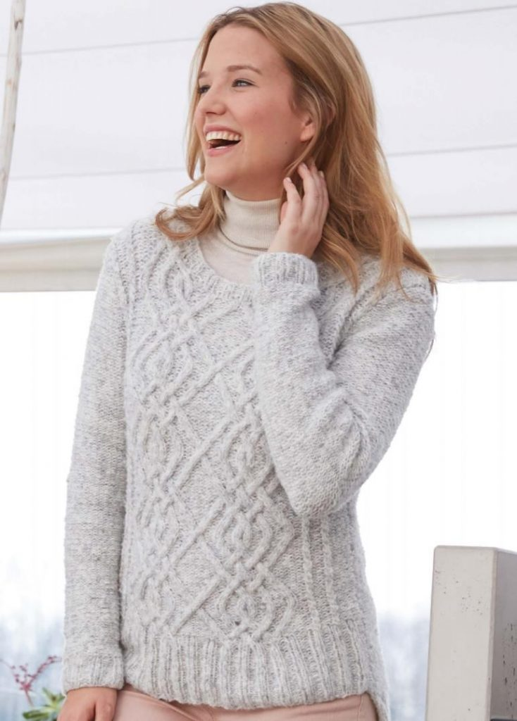 Free knitting pattern for a patons sweater
