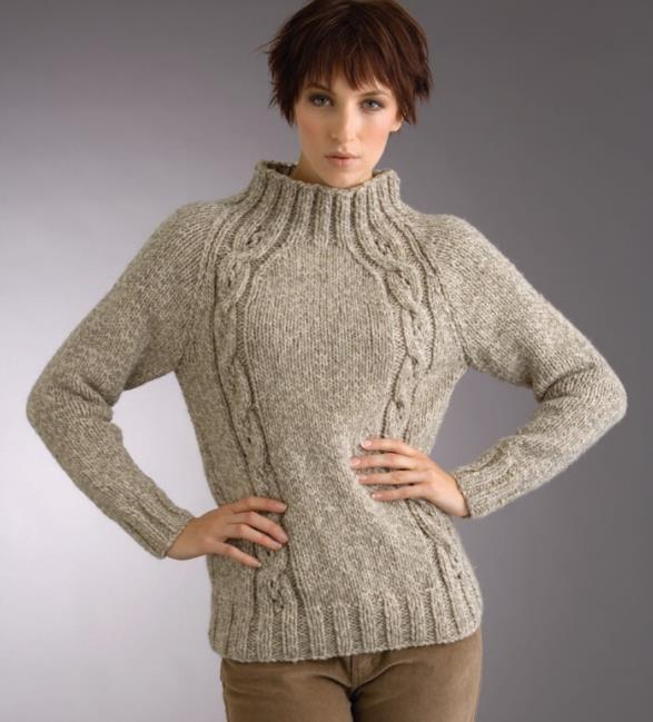 Patons cable sweater knitting pattern