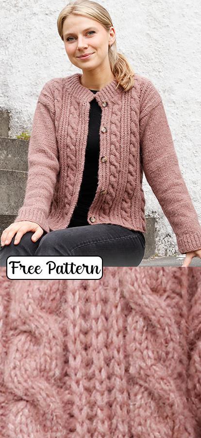 free knitting patterns for ladies cardigan