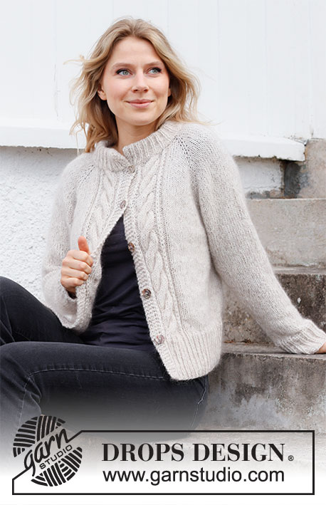 raglan cardigan knitting pattern for women with cables
