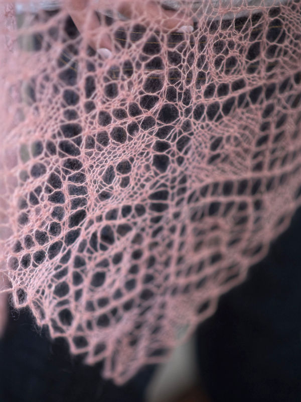 Free Knitting Pattern for a Light and Dreamy Lace Shawl