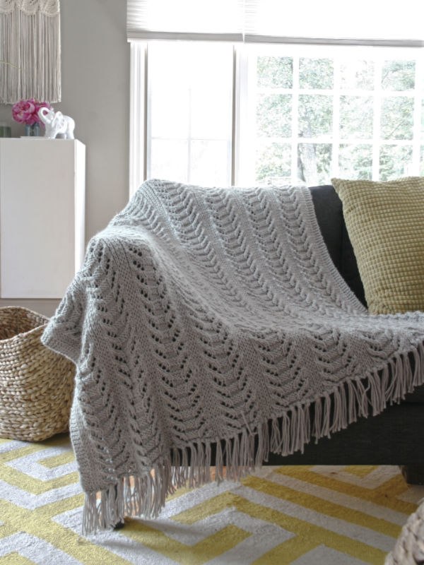 Free Knit Pattern for a Cable Illusion Pattern