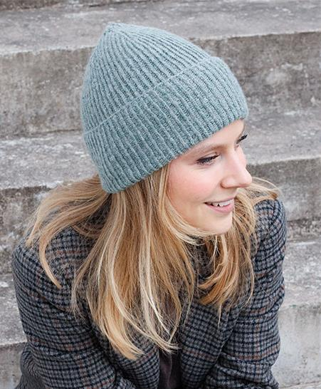 Free Knit Pattern for a Simple Rib Beanie 1