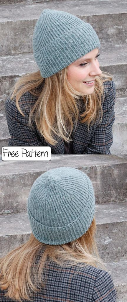 Free Knit Pattern for a Simple Rib Beanie